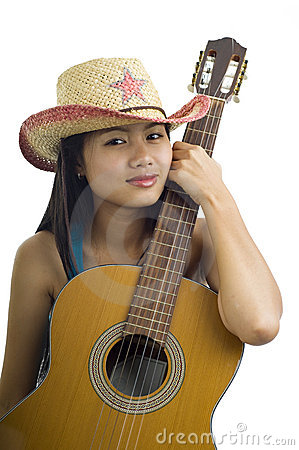 Asian guitar girl