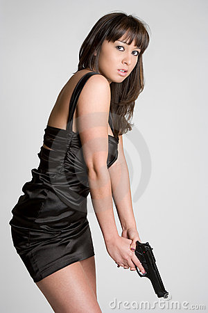 Free Asian Gun Girl Royalty Free Stock Photos - 8640938