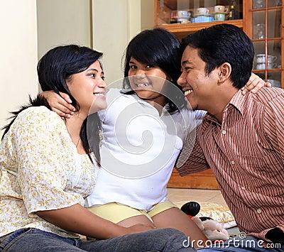 Asian happy family