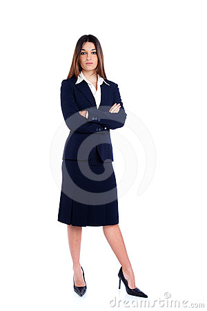 Asian indian business woman full length