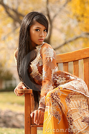 Free Asian Indonesian Girl Stock Image - 4101841