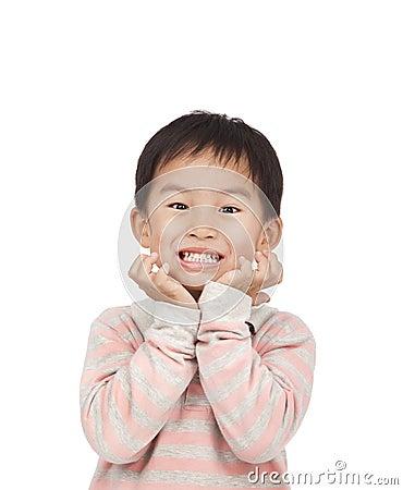 Asian kid expressing surprise