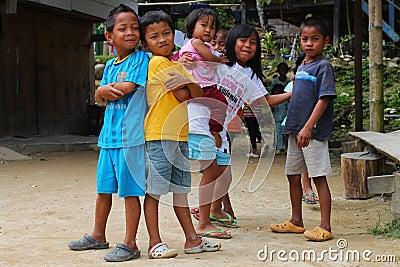 Asian kids Editorial Stock Image