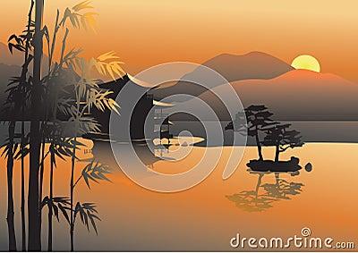Asian lake