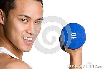 Asian Lifting Weights