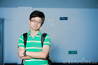 Asian male student