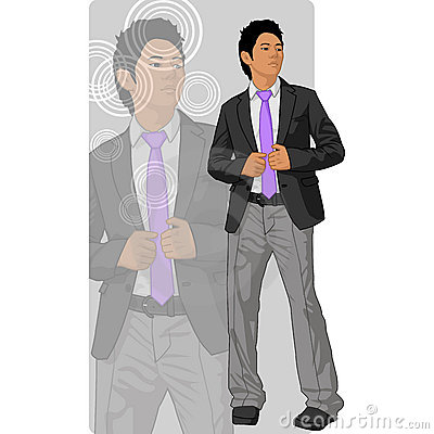 Asian man in coat and tie