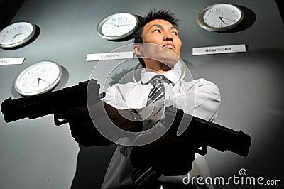 Asian Man with a Gun - deadline!