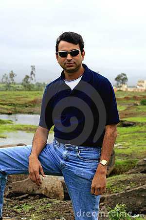 Free Asian Man In Countryside Royalty Free Stock Photography - 2956727