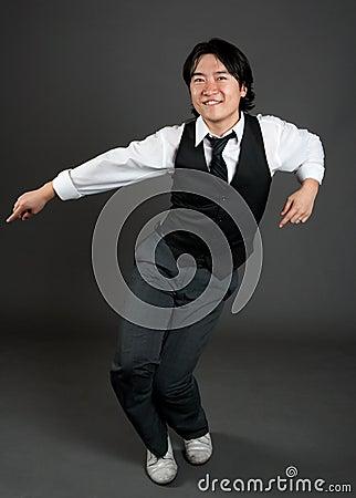 Free Asian Man Jazz Dancing Stock Photos - 20495473