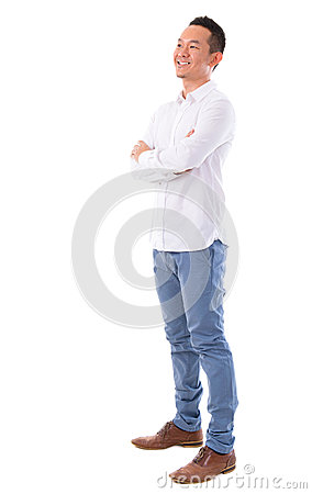 Free Asian Man Looking At Side Stock Photography - 32465052