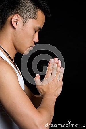 Asian Man Praying