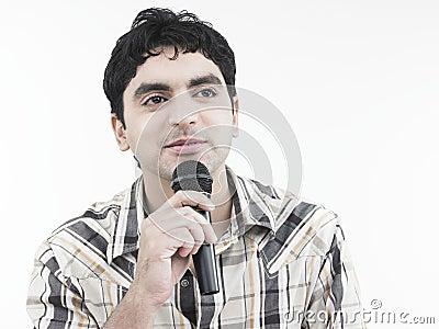Asian man singing a song
