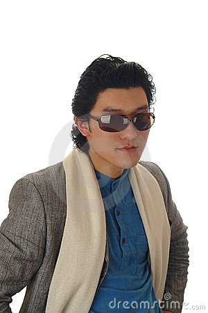 Asian man in sunglass