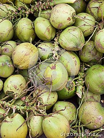 Asian market foods coconuts