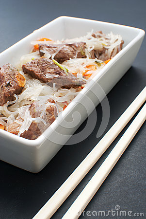 Asian meat with glass noodles
