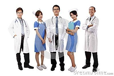 Asian medical team