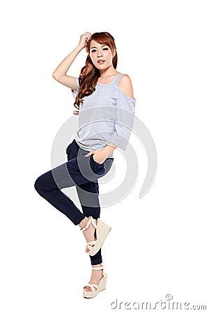 Asian model full body