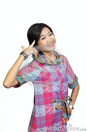 Asian Model Posing