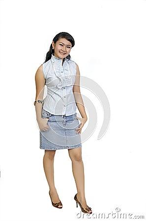 Asian Model Posing Full Body
