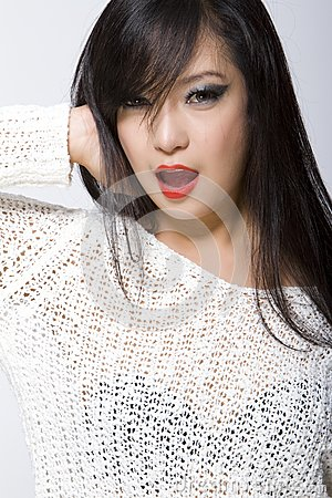 Asian Model Woman-Thai Ethnicity Beauty