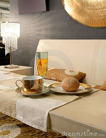 Asian modern bedroom breakfast luxury table