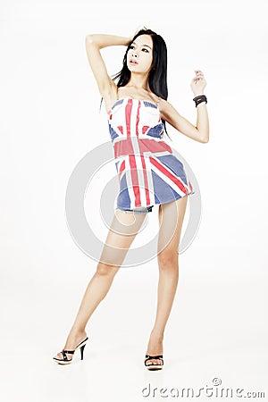 Asian modern girl posing