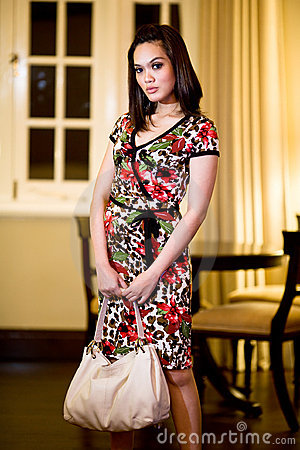 Asian modern malay woman
