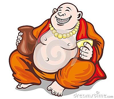 Asian monk