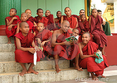 Asian monks Editorial Stock Photo