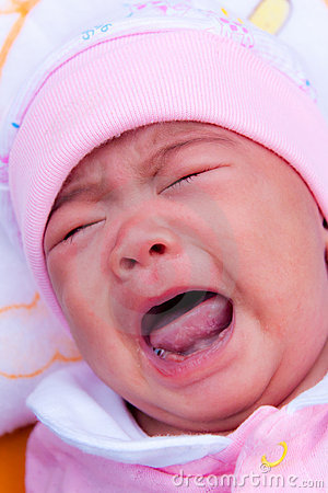 Asian new born crying