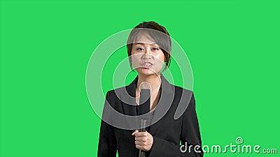 Asian news reporter facial