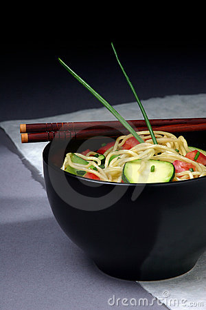 Free Asian Noodle Bowl Royalty Free Stock Image - 32306