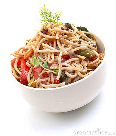 Free Asian Noodle Dish Stock Image - 24542431