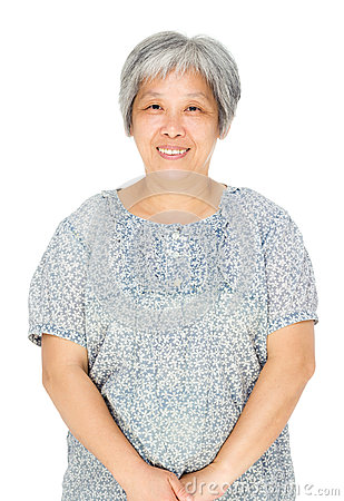 Asian old woman