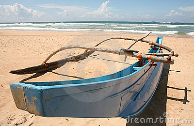 Asian outrigger canoe