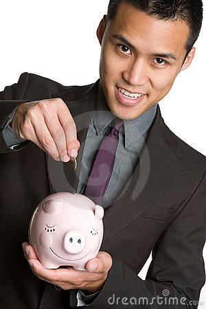 Asian Piggybank Man