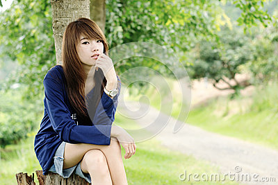 Asian pretty face girl