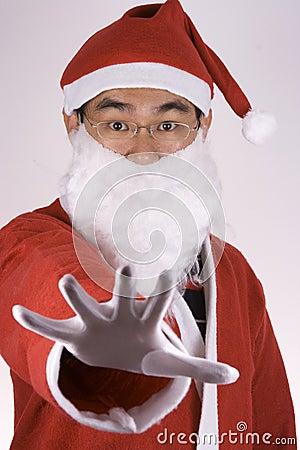 Asian Santa Claus Saying No