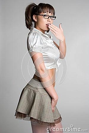 Asian Baseball Woman Stock Image - Image: 8515211