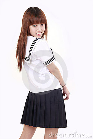 Asian schoolgirl.