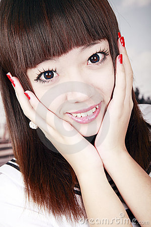 Asian schoolgirl portrait