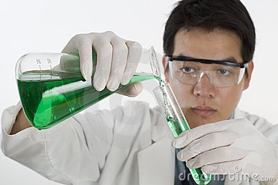 Asian Scientist doing research