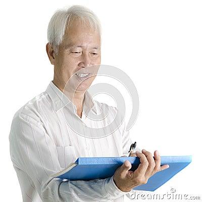 Asian senior businessman