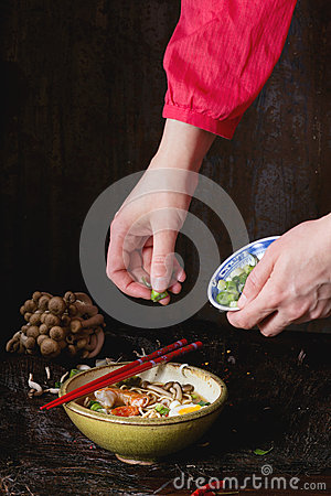 Free Asian Soup Ramen Ready To Eat Stock Photos - 66474623