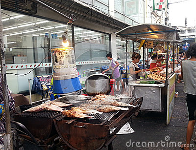 Asian street market Editorial Stock Photo