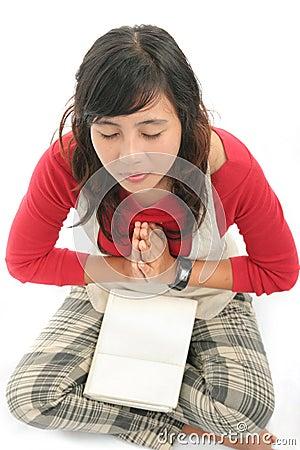 Asian student yoga