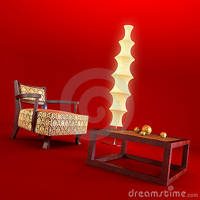 Asian style lounge room