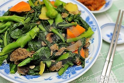 Asian style mixed vegetable delicacy