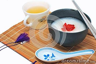 Asian styled healthy breakfast